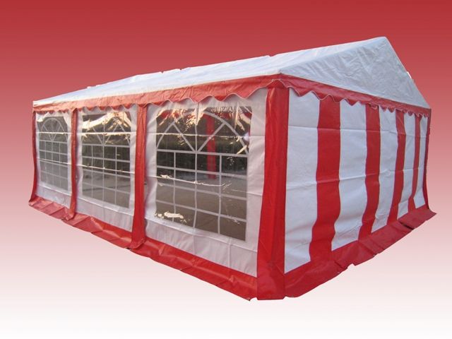 Partytent 4x6 Rood wit