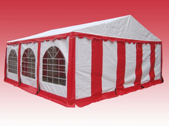 Partytent 6x6 Rood wit