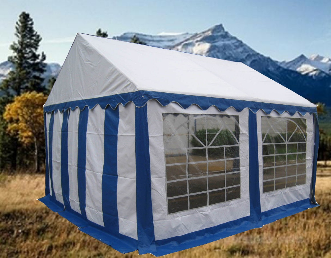 Partytent 4x4 Blauw wit