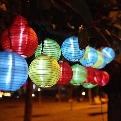 feestverlichting lampion gekleurd