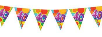 vlaggetjes 40 jaar Verhuur Vlaggetjeslijn 40 jaar (10 mtr) te huur Zuid Limburg  vlaggetjes 40 jaar